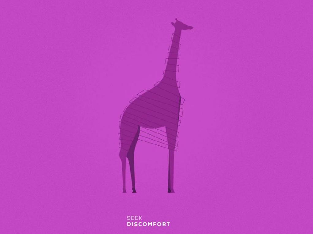 Giraffe | Seek Discomfort adobe graphic design illustrator dribble shots illustraion animal purple giraffe