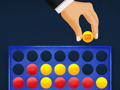 Freshchat Integration game texture integration chennai india illustration chat crm business bot