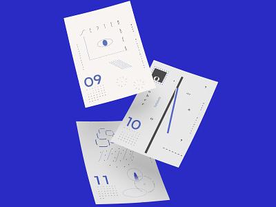 Typocallendar_021 minimal graphic design fonts blue typocallendar