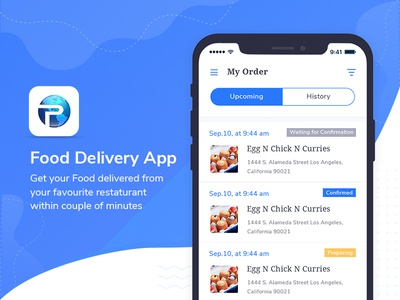 Restaurant Food Delivery App food delivery food app ui food and drink ios illustation payment delivery app restaurant app food delivery app