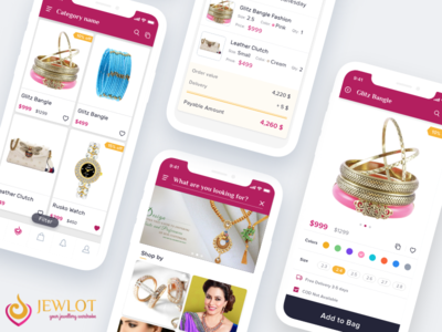 eCommerce Jewellery App trending ios gold pink jewellery shopping online e-commerce