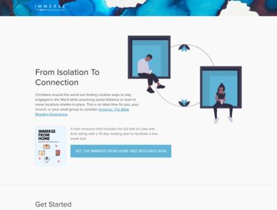 Immerse From Home Design hero design illustration website design books web design website