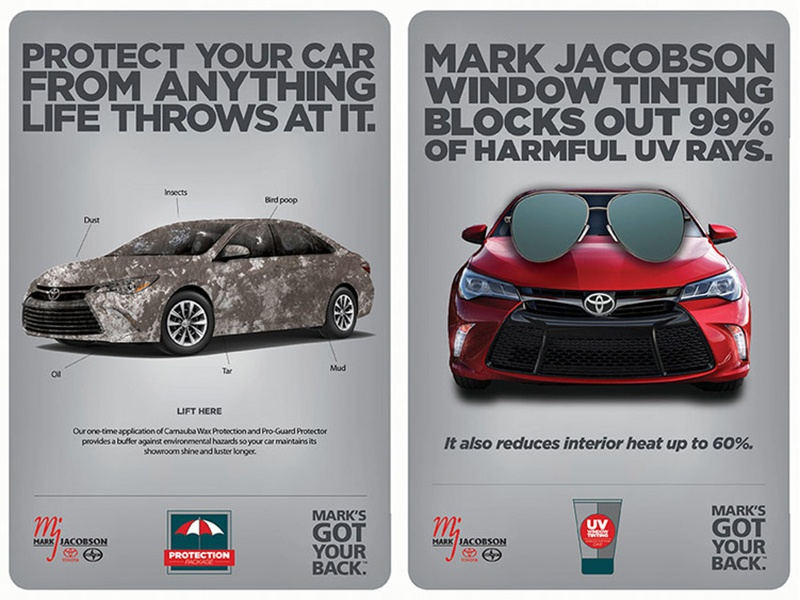 Mark's Protection point of sale advertising protection nc durham toyota car
