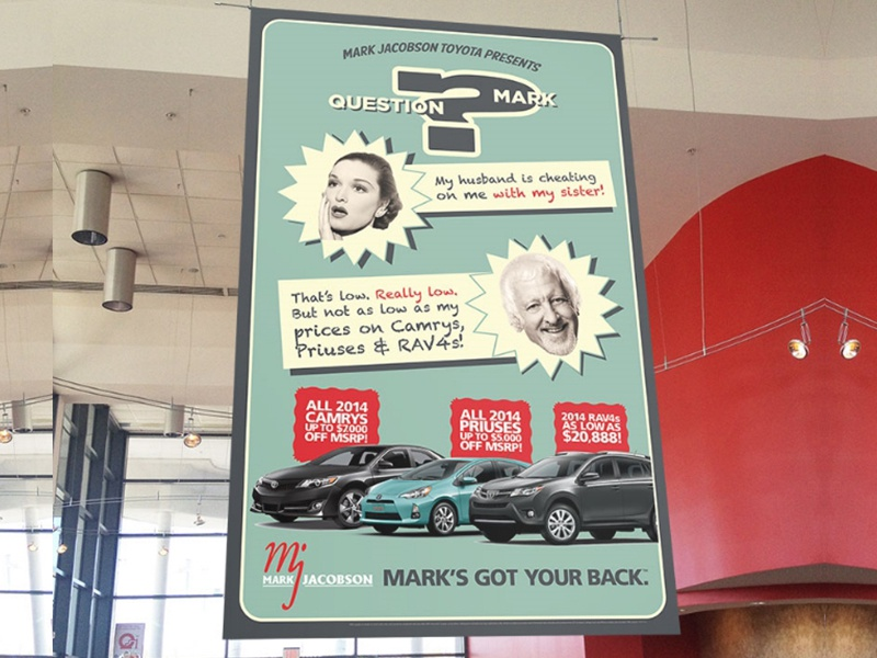 That's Low print banner point of sale advertising nc durham toyota car