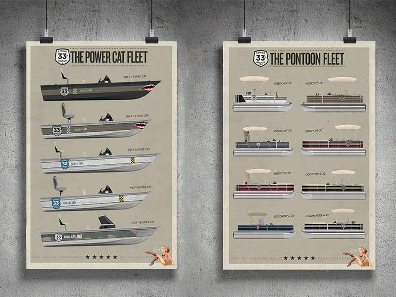 33rd Strike Group Posters military fishing pontoon posters print boats