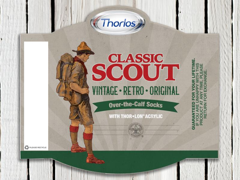 Boy Scout Sock Packaging packaging north carolina nc america original retro vintage boy scout socks