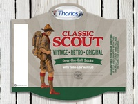 Boy Scout Sock Packaging