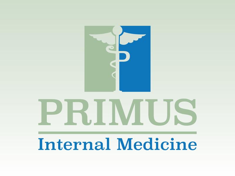 Primus Logo chapel hill nc north carolina medical blue green type logo