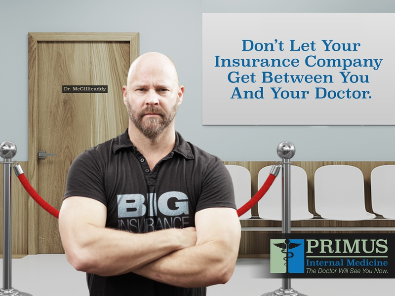Primus Ad bouncer advertising room waiting north carolina nc chapel hill insurance medical