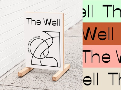 Branding Process for The Well logo layout branding typography