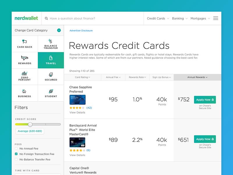 Rewards Credit Card Tool credit card table card credit tool