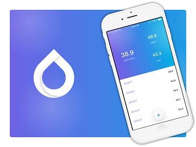 MPG tracker app ios app drop drip icon track mpg