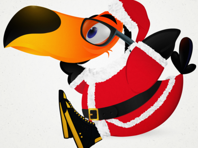 Christmas Toucan Seated