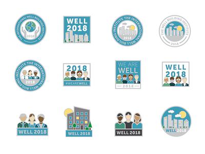 Enamel pin designs - WIP wip buildings people illustration pin vector illustrator