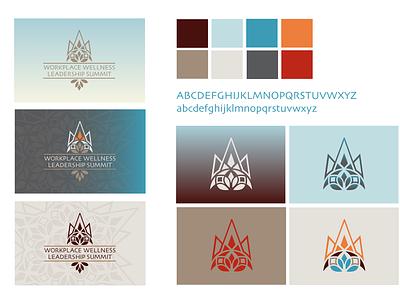 WWLS Branding gradient leadership leader vector bold mountain crown mandala logo summit wellness branding