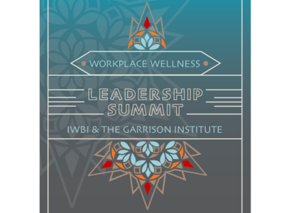 Workplace WELLness Leadership Summit poster design leadership corporate mindfullness mindful wellness vector poster client