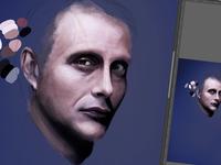 sketch 2 - Hannibal Lecter