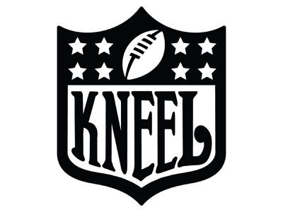 Kneel logo design logo concept branding sports logo nfl kaepernick human rights logo political blm