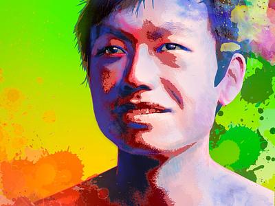 A colorful portrait poster watercolor colorful portrait poster design graphic design