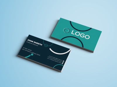 Clean Business Card design. illustration visiting card visiting professional simple print-ready customizable corporate cleanelegant blue elegant design creative