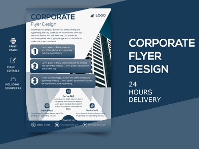 Corporate business digital  flyer design