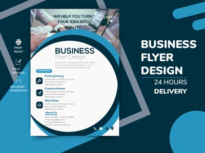 Modern Corporate business flyer advertising design creative advertising