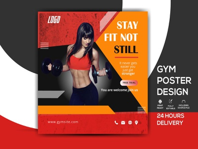 Fitness  Poster poster design sports flyer sport promotion magazine leaflet healthy healthcare gym flyer gym fresh fitness flyer template fitness flyer fitness center fitness fit energy diet bodybuilding body