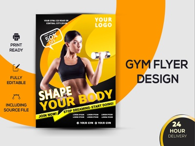 Gym & Fitness Flyer
