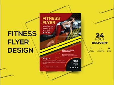Fitness Flyer illustration exercise advertisement yoga training sports leaflet health care gym flyer gym fitness flyer fitness center fitness fit energy diet bodybuilding body