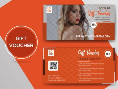 Gift Voucher illustration modern voucher