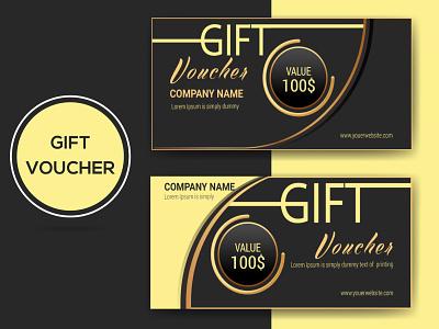 Gift Voucher elegant illustration branding gift certificate gift voucher voucher deals voucher super deal special offer simple rewards promotion promote professional modern