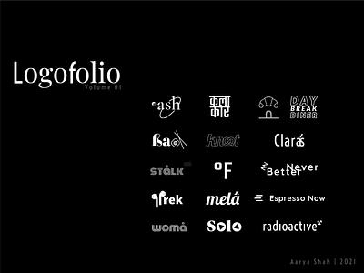 Logofolio 01 minimal typogaphy lettering logo branding