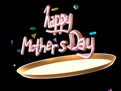 Mother's Day Handlettering 3dtypography type sculpt nomad sculpt mothers day lettering 3d motion typogaphy 3d type 3d modeling handlettering