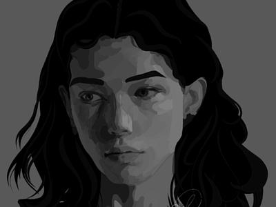 Digital Portrait adobe illustrator draw illustration art adobe adobe draw digital painting digital portrait digital art painting