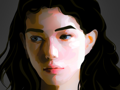 Digital Portrait Painting portrait portrait painting dynamic lighting light study digital painting