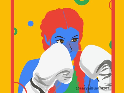 Women Illustration series | Blue design adobe draw minimal illustration