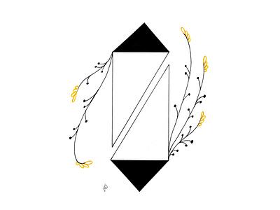 Organic Geometry VI color accent black minimalism drawing sketchbook sketch fineliner illustration