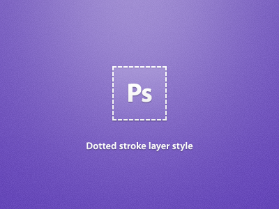 Ps Dotted Stroke Feature photoshop layer style dotted stroke