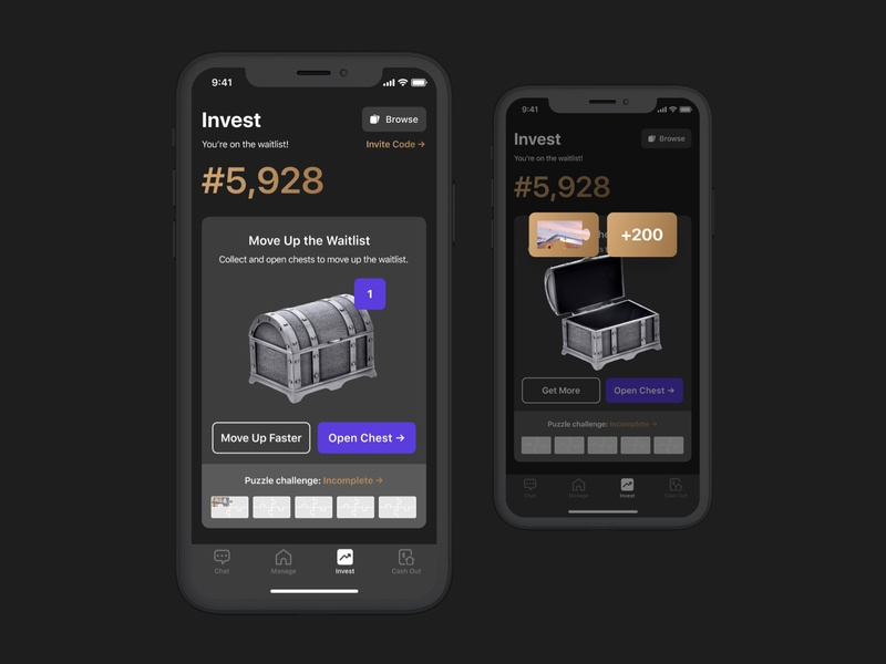 Invest Waitlist - Mobile investing investment invest waitlist finance app iphone ios mobile product real estate design