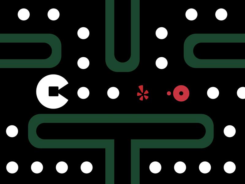 Uber Pacman Graphic graphic uber illustration product design