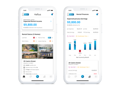 Landlord App - Dashboard and Finances