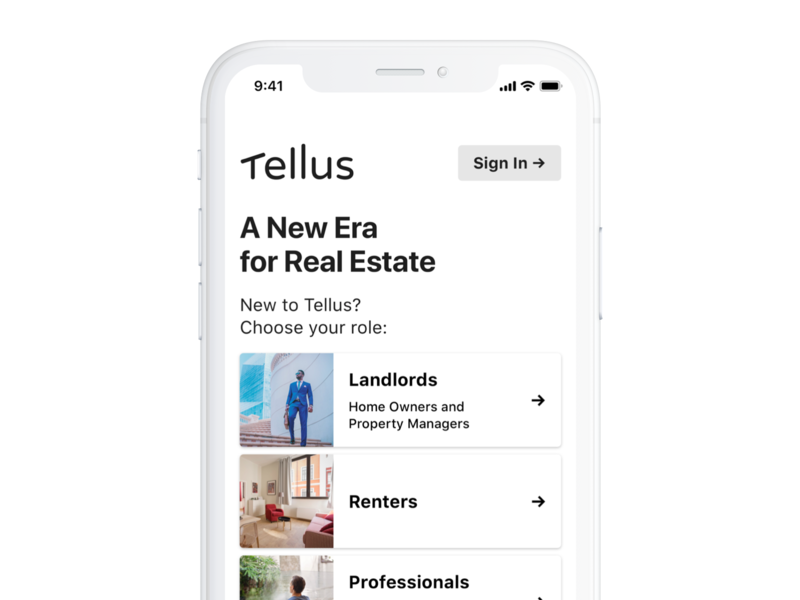 Landing Page product mobile iphone ios app ui real estate interface design