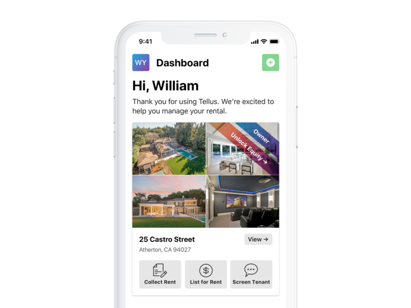 Onboarding - Dashboard for Landlords ux onboarding dashboard finance interaction product mobile iphone ios app ui real estate interface design
