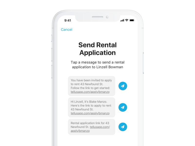 Send Rental Application