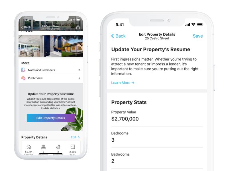 Home Profile - Edit Property Details