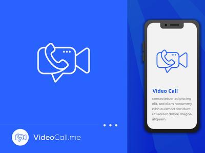 Video Call App logo Or icon design  | App logo design | Icon graphic design unique minimal business sms imo zoom app call video call vector design brand identity logo logo design icon branding