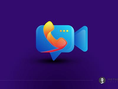 Video Call App logo design | App logo design | Icon design zoom imo video call sms call unique colorful gradient logo modern logo illustration branding design design brand identity branding logo logo design icon app logo app