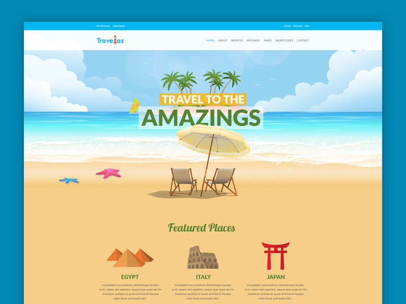 Travel And Tourism Web Design By Deepu Satheesh On Dribbble