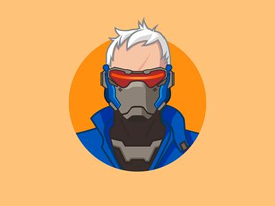 Overwatch - Soldier soldier overwatch minimalist 2d vector illustration