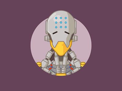 Overwatch - Zenyatta overwatch zenyatta illustration 2d